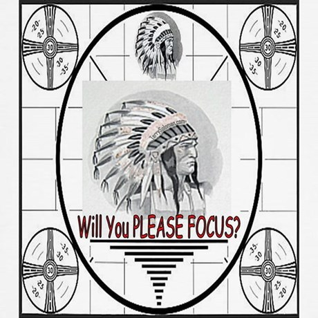 TV Test Pattern Indian Chief Wall Clock by tv_testpattern