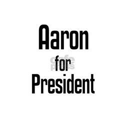 Aaron for President Ash Grey T-Shirt