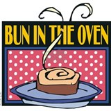 Bun in the oven apron Aprons