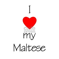 I Love My Maltese Ash Grey T-Shirt