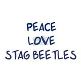 Peace, Love, Stag Beetles Mug