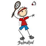 Badminton mens tee shirt Aprons