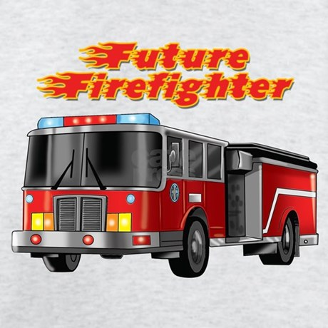 future firefighter fire truck t shirt by seasonalswag. Black Bedroom Furniture Sets. Home Design Ideas