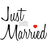Just Married (Black Script w/ Heart) Mug