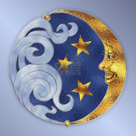 Celestial Moon And Stars Throw Pillow By Spicetree