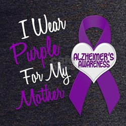 I Wear Purple For My Mother 18 (AD) T-Shirt