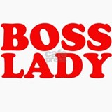 BOSS LADY RED Ceramic Travel Mug