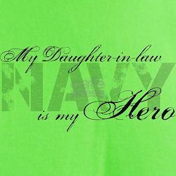 Daughter-in-law is my Hero NAVY T-Shirt
