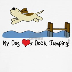 Cartoon Dock Jumping T Shirt (Fitted)