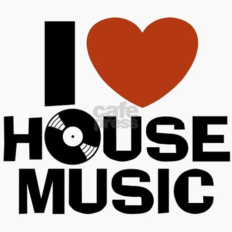 I love house music magnet by snapetees for I love house music