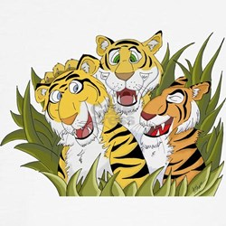 Cartoon Tiger Trio T