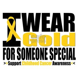 I Wear Gold Someone Special Shirt