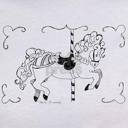 Carousel Horse Cartoon Tee