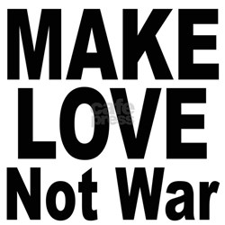 Make Love Not War (Front) Women's Pink T-Shirt
