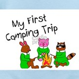 First camping trip Baby Bodysuits