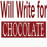 Will Write for Chocolate Ceramic Travel Mug