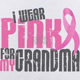 I wear pink for my grandma Baby Bodysuits