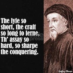 "Chaucer ""Lyfe So Short"" T"