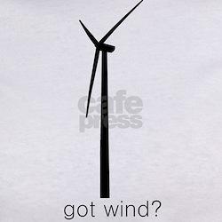 """got wind?"" Wind Turbine Tee"