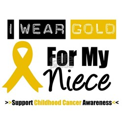 I Wear Gold Niece Shirt