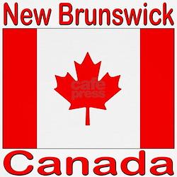 New Brunswick Flag Canada Kids T-Shirt
