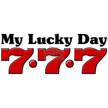 My lucky day 777 rectangle decal by myluckyday777 - Lucky color of the day ...