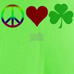 Peace Love Shamrock Irish T-Shirt