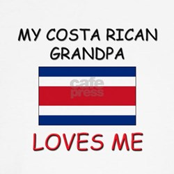 My Costa Rican Grandpa Loves Me Shirt