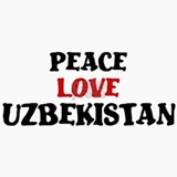 Peace Love Uzbekistan Ceramic Travel Mug