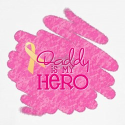 Daddy is my Hero *pink T