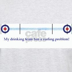 """My drinking team..."" Grey T-Shirt"