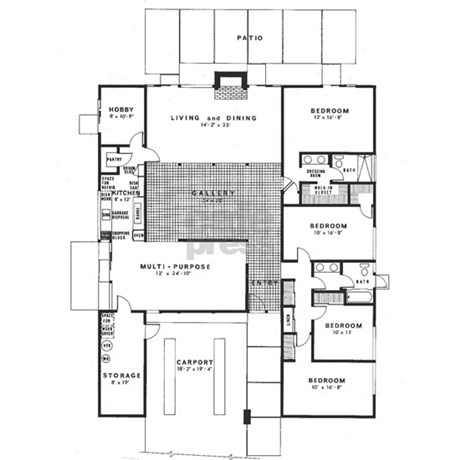 Eichler floor plan journal by eichler for Eichler flooring