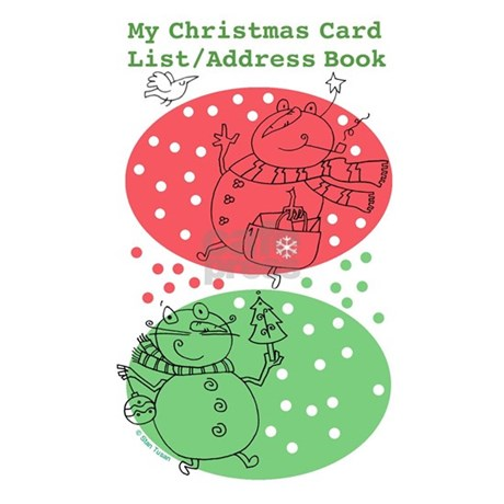 christmas card adress book
