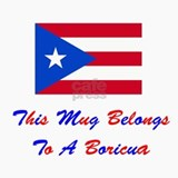 This Mug Belongs To A Boricua Ceramic Travel Mug