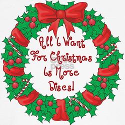 Wreath Disc Golf Christmas T-Shirt