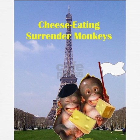 french cheese eating surrender monkeys women s tan by