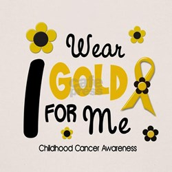 I Wear Gold 12 Me CHILD CANCER Tee