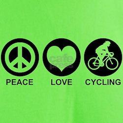 Peace Love Cycling (Female) T-Shirt