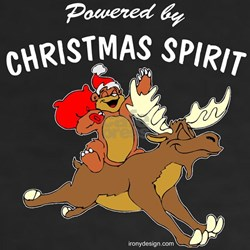 Powered by CHRISTMAS SPIRIT Shirt