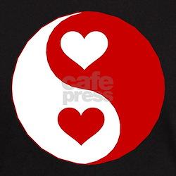 Yin Yang Hearts Black T-Shirt