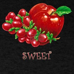 sweet apple and grapes Black T-Shirt