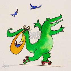 Crocodile on Wheels Organic Baby Tee