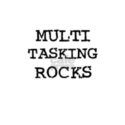 MULTI TASKING ROCKS Ash Grey T-Shirt