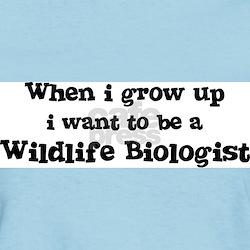 Be A Wildlife Biologist Women's Pink T-Shirt