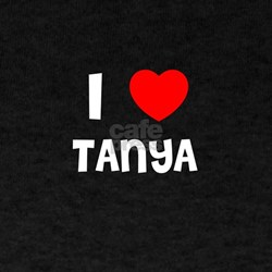 I LOVE TANYA Black T-Shirt
