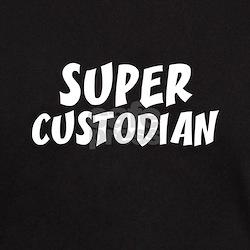 SUPER CUSTODIAN  Black T-Shirt