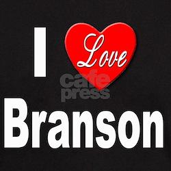 I Love Branson Missouri (Front) Black T-Shirt