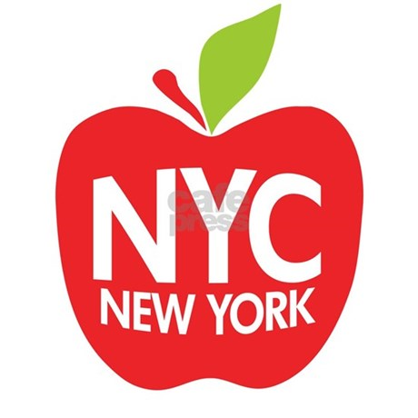 Big Apple Green NYC Rectangle Decal By Zerotees