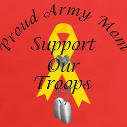 Support Our Troops Army Mom Tee