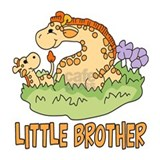Two Giraffes Little Brother Mug